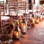caminho do altar com lanternas - mini casamento