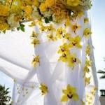 altar com flores amarelas curitiba - mini casamento curitiba - decoração de casamento Curitiba