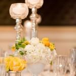 centro de mesa com amarelo curitiba - mini casamento curitiba - decoração de casamento Curitiba