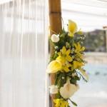 flores amarela para altar curitiba - mini casamento curitiba - decoração de casamento Curitiba