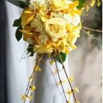 flores para prender cortina amarelo curitiba - mini casamento curitiba - decoração de casamento Curitiba