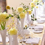 vasinhos com flor amarela curitiba - mini casamento curitiba - decoração de casamento Curitiba