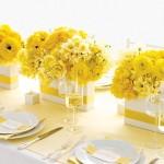 vaso com flores amarela curitiba - mini casamento curitiba - decoração de casamento Curitiba